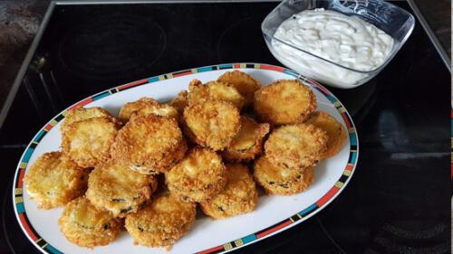 Zucchini knusprig gebacken